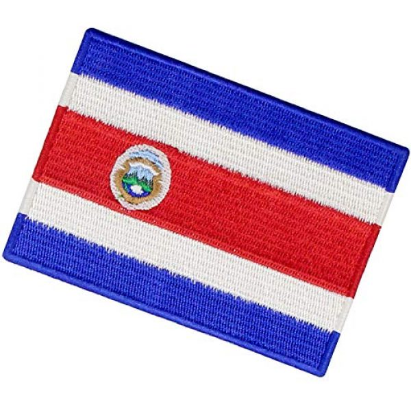 EmbTao Airsoft Morale Patch 4 The Republic of Costa Rica Flag Patch Embroidered Applique Costa Rican Iron On Sew On National Emblem
