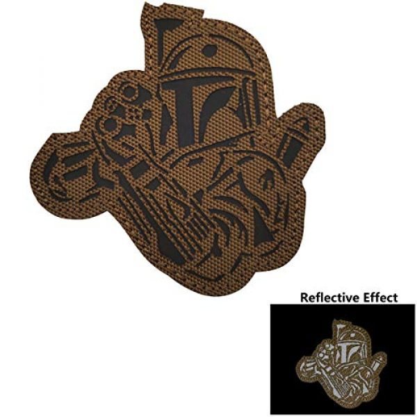 APBVIHL Airsoft Morale Patch 6 4 Pack Infrared IR Reflective Star Wars Mandalorian This is The Way Full Helmet Patch - Fastener Hook and Loop Backing Tactical Military Morale Appliques Emblem Badges