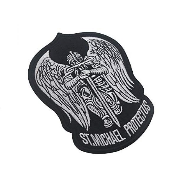 Zhikang68 Airsoft Morale Patch 3 St.Saint Michael Protect Us Modern Morale Embroidered Patch Tactical Military Army Operator Patches Applique for Coat Jacket Gear Cap Hat Backpack