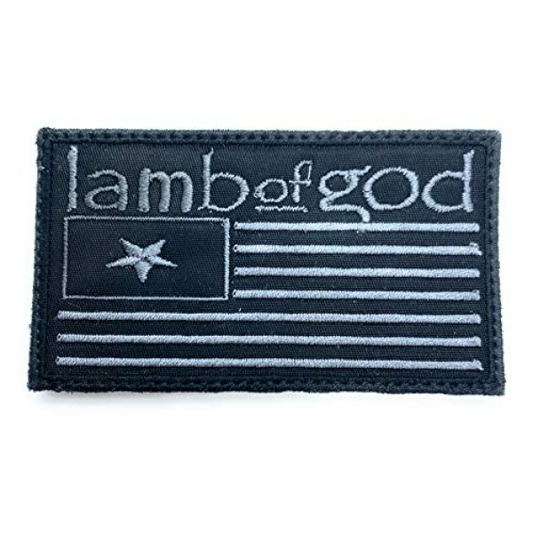 Almost SGT Airsoft Morale Patch 1 Lamb of God Flag Logo - Funny Tactical Military Morale Embroidered Patch Hook Backing