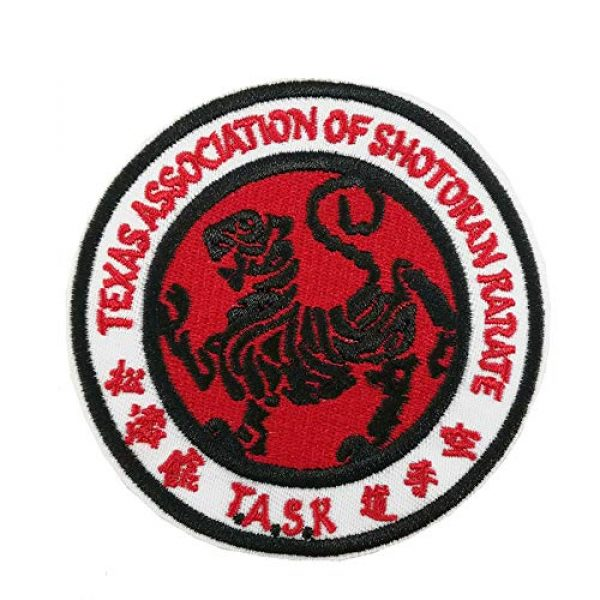 Cute-Patch Airsoft Morale Patch 1 Texas Association of Shotokan Karate Task Embroidered Iron on sew on Patch Martial Arts Applique