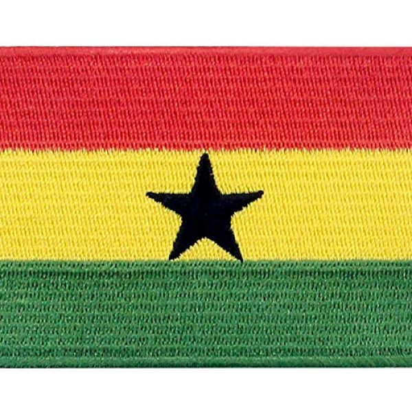 EmbTao Airsoft Morale Patch 2 EmbTao Ghana Flag Patch Embroidered National Morale Applique Iron On Sew On Ghanaian Emblem