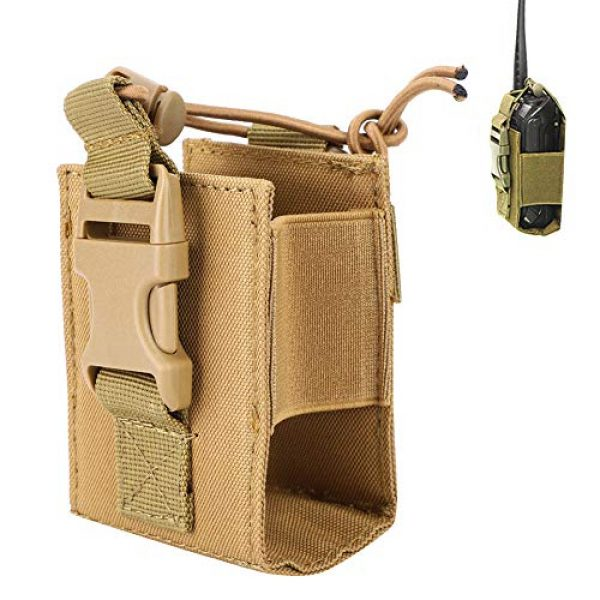 Hoseten Tactical Pouch 4 Durable Radio Holder, Radio Case, Portable Cosplay Tool Camping Bag for Outdoor Sports