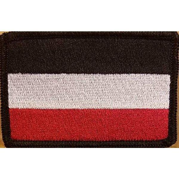 Fast Service Designs Airsoft Morale Patch 1 German Empire 1871 Flag Patch with Hook & Loop Tactical Morale Germany Biker Emblem