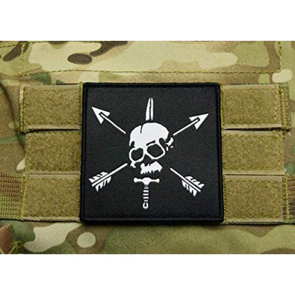 "BritKitUSA Airsoft Morale Patch 1 Special Forces Woven Morale Patch SFARTAETC Nous Defions CIF CQB Green Beret SF 3""x3"""