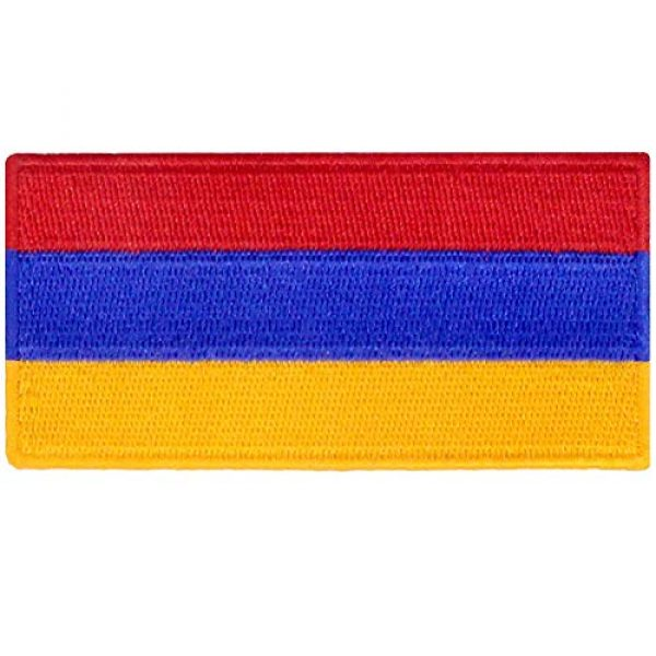EmbTao Airsoft Morale Patch 1 Armenia Flag Embroidered Patch Armenian Iron On Sew On National Emblem