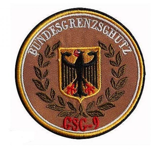 Embroidery Patch Airsoft Morale Patch 1 Germany Eagle German Bundesgrenzschutz GSG9 Military Hook Loop Tactics Morale Embroidered Patch