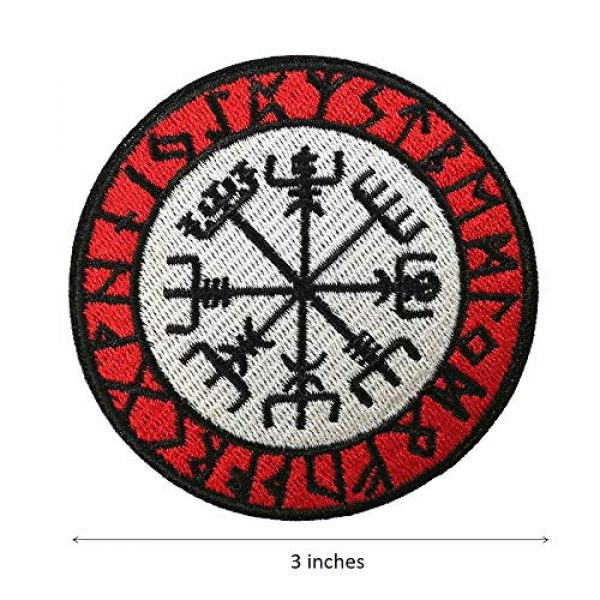 Cute-Patch Airsoft Morale Patch 3 Viking Compass Vegvisir Embroidered Iron on sew on Patch