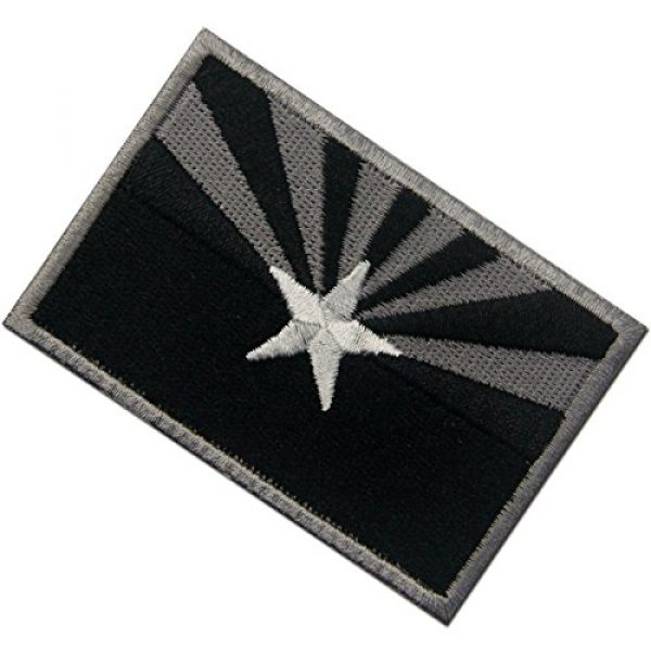 EmbTao Airsoft Morale Patch 4 Arizona State Flag Embroidered Tactical Emblem Iron On Sew On AZ Patch - Black