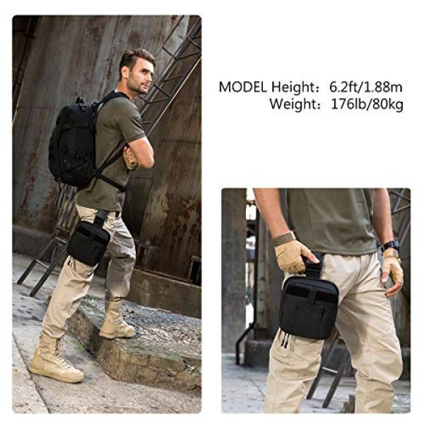 ArcEnCiel Tactical Pouch 2 ArcEnCiel Leg Bag Tactical Military First Aid Pouch Drop Waist Thigh Hip Fanny Pack Tool Gear for Paintball Airsoft Motorcycle Riding