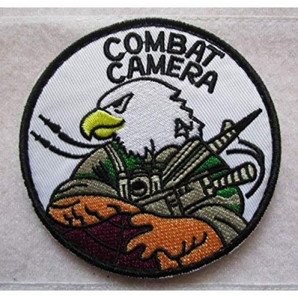 Embroidered Patch Airsoft Morale Patch 1 Kandahar Whacker Pro -Team Comcam Burdock Combat Camera 3D Tactical Patch Military Embroidered Morale Tags Badge Embroidered Patch DIY Applique Shoulder Patch Embroidery Gift Patch