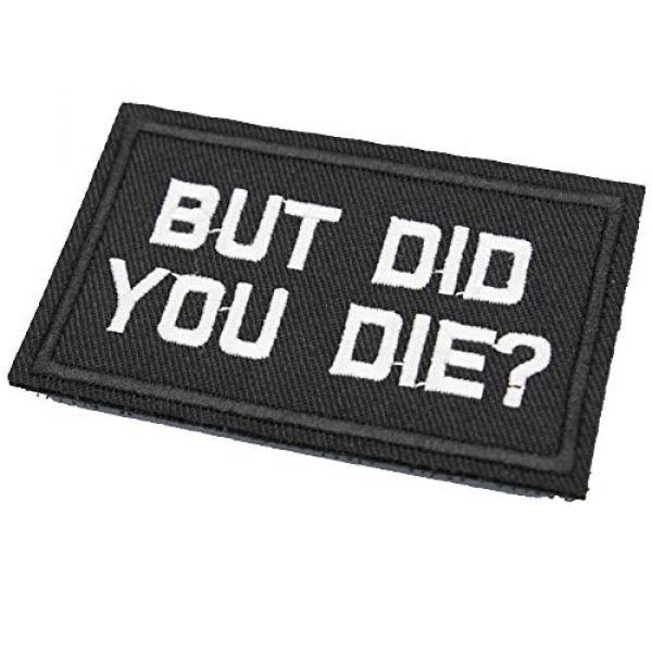 DATOUWEN ACCESSARY Airsoft Morale Patch 2 ZHDTW But Did You Die Words Letter Embroidered Tactical Patches with Hook and Loop (DT-023)