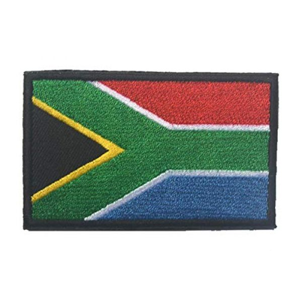Tactical Embroidery Patch Airsoft Morale Patch 2 2pcs South Africa Flag Embroidery Patch Military Tactical Morale Patch Badges Emblem Applique Hook Patches for Clothes Backpack Accessories