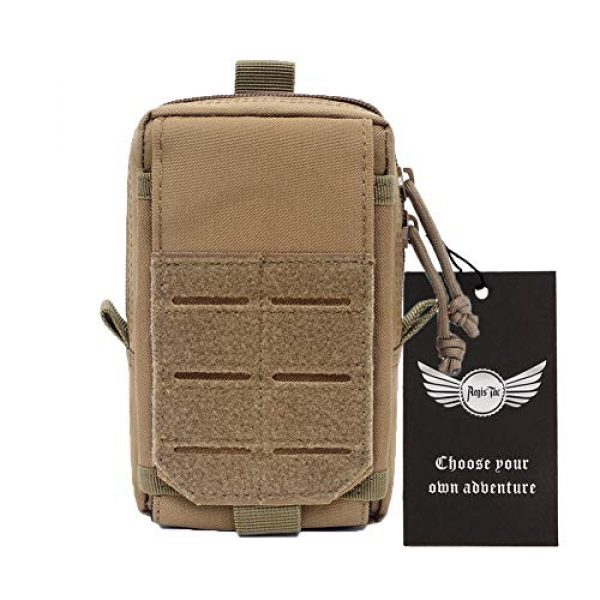 AegisTac Tactical Pouch 1 AegisTac Tactical Molle Phone Pouch EDC Utility Gadget Waist Bag Pack Cell Phone Case Smartphone Holster Bag for Hiking Bushcraft Survival