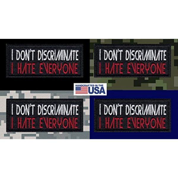 Tactical Patch Works Airsoft Morale Patch 3 I Don'T Discriminate I Hate Everyone Funny Biker Motorcycle Patch