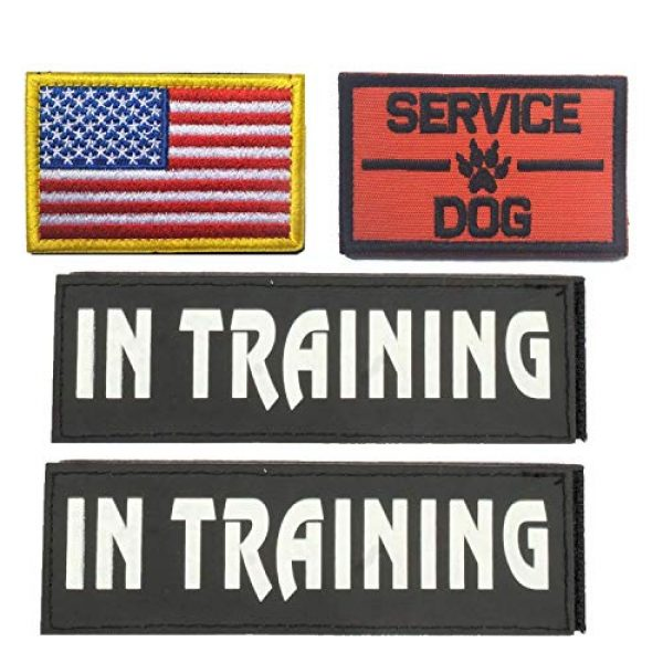 GrayCell Airsoft Morale Patch 1 GrayCell Dog Pack Hound Travel Hiking Backpack Saddlebags/Morale Service Dog Patches for Pet Tactical K9 Harness Vest(2)