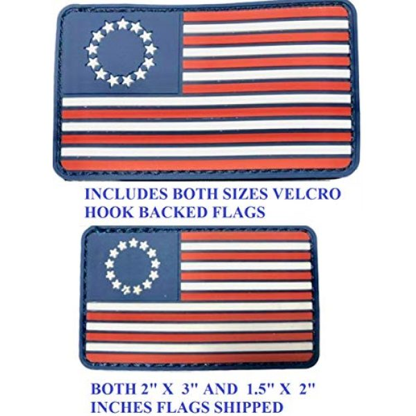 Diezel Pet Products Airsoft Morale Patch 2 American Flag Morale Patch Two Pack - PVC Rubber Patches Show United States Pride Hook Loop RED White Blue OR Thin Blue LINE 2 X 3 INCH Plus Small 1.5 X 2.5 INCH Sizes (13STRS)
