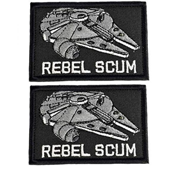 Ebateck Airsoft Morale Patch 1 Ebateck Morale Patches Tactical Funny, 2x3 inch, Star Wars Rebel Scum Patch Hook Fastener, Black
