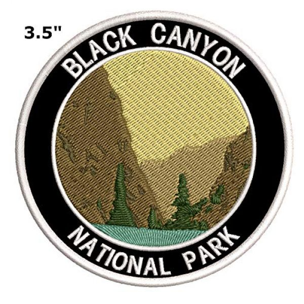 """Appalachian Spirit Airsoft Morale Patch 2 Black Canyon National Park 3.5"""" Embroidered Patch DIY Iron or Sew-on Decorative Vacation Souvenir Applique Wander Nature Wildlife Hike Trek Camping Explore Mountains Stars Moon Scout Guide Ranger"""