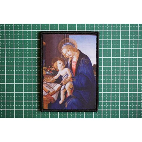 WAPPEN-YA DONGRI Airsoft Morale Patch 2 Sandro Botticelli Morale Patch Hook and Loop A0521 (Madonna with The Child)
