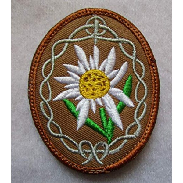 Embroidered Patch Airsoft Morale Patch 1 German Elite Edelweiss Flower Mountain Climbers 3D Tactical Patch Military Embroidered Morale Tags Badge Embroidered Patch DIY Applique Shoulder Patch Embroidery Gift Patch