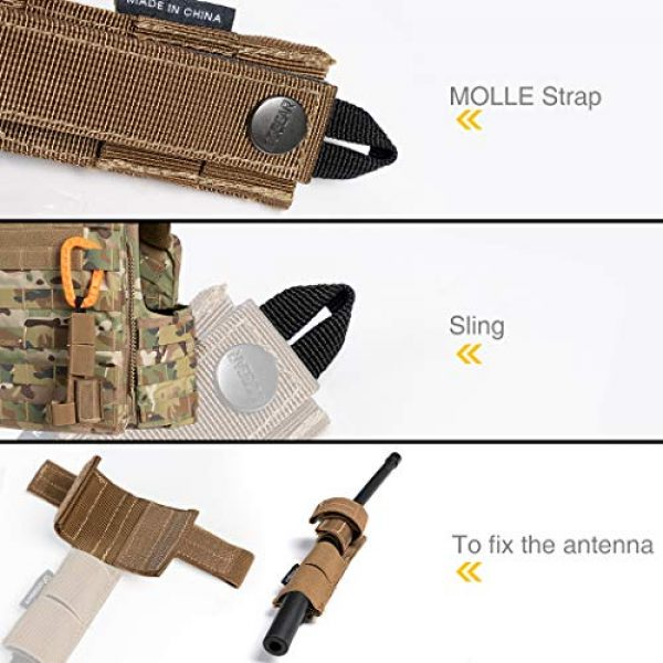 IDOGEAR Tactical Pouch 5 IDOGEAR Tactical Radio Antenna System Relocation Pouch Molle Pouch for PRC152 PRC148 MBITR