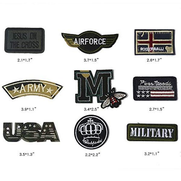 Embro4U Airsoft Morale Patch 2 25 Pcs Iron On Tactical Patches, Assorted Morale Military Sew On Patches, Embroidered Combat Skeleton Applique for Motorcycle Biker Vest, Operator Cap, Cosplay, Airsoft and Paintball