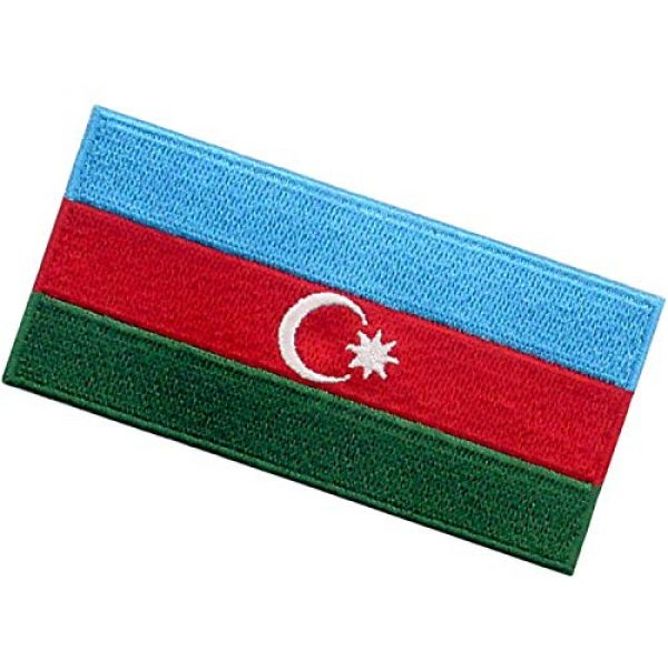 EmbTao Airsoft Morale Patch 4 EmbTao Azerbaijan Flag Patch Embroidered National Morale Applique Iron On Sew On Azerbaijani Emblem