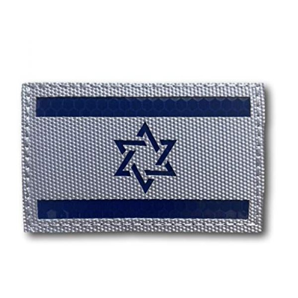 """Backwoods Barnaby Airsoft Morale Patch 1 Backwoods Barnaby Israel Infrared/Reflective Flag Patch/IR IFF Morale Military Tactical Patch with Hook & Loop (2"""" x 3.25"""")"""