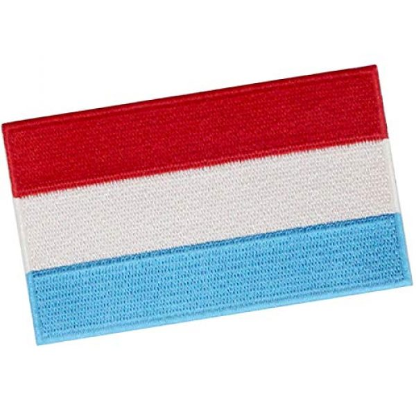 EmbTao Airsoft Morale Patch 3 EmbTao Luxembourg Flag Patch Embroidered National Morale Applique Iron On Sew On Luxembourgish Emblem