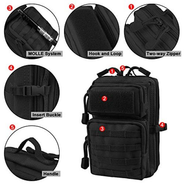 AMYIPO Tactical Pouch 4 AMYIPO MOLLE Pouch Multi-Purpose Compact Tactical Waist Bags Small Utility Pouch Mini Pocket