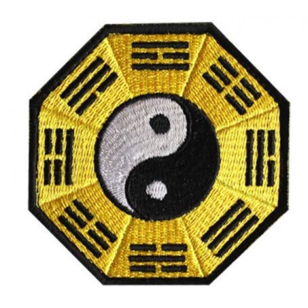 Embroidered Patch Airsoft Morale Patch 1 Yin and Yang 3D Tactical Patch Military Embroidered Morale Tags Badge Embroidered Patch DIY Applique Shoulder Patch Embroidery Gift Patch