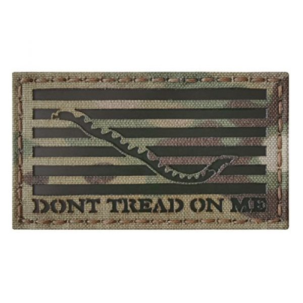 Tactical Freaky Airsoft Morale Patch 4 Multicam Infrared IR US First Navy Jack Dont Tread On Me DTOM Flag 3.5x2 Tactical Morale Hook&Loop Patch