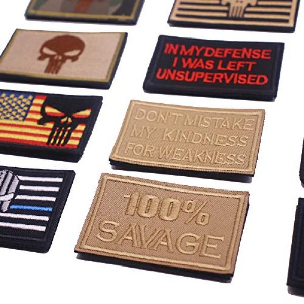 DATOUWEN ACCESSARY Airsoft Morale Patch 7 ZHDTW 18pcs Assorted Tactical Morale Patches for Army Fans Embroidery Patch for Backpack Bags Uniforms with Hook and Loop (DT018)