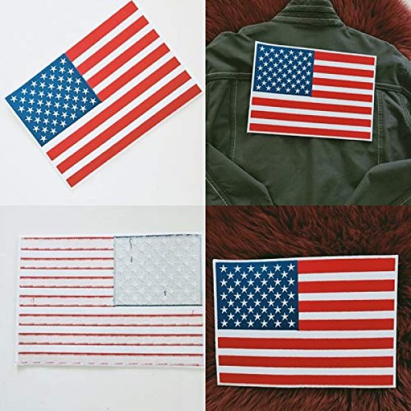 """Heavens Tvcz Airsoft Morale Patch 3 Heavens Tvcz Large XXL National Flag Embroidered Motorcycle for Men Women Teens Patches Thin Red White Line Morale Stars On Blue Background Tactical US Flag Worn Black United Jeans Women Patch 11"""" x 7"""