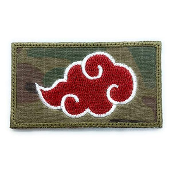 Almost SGT Airsoft Morale Patch 1 Akatsuki Red Cloud Patch Naruto - Funny Tactical Military Morale Embroidered Patch Hook Backing(Camouflage)