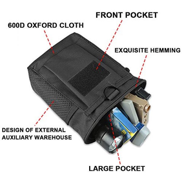 AMYIPO Tactical Pouch 5 AMYIPO Tactical Hip Holster Bag Outdoor Pouch Molle Drawstring Magazine Dump Pouch, Military Adjustable Belt Utility Pouch