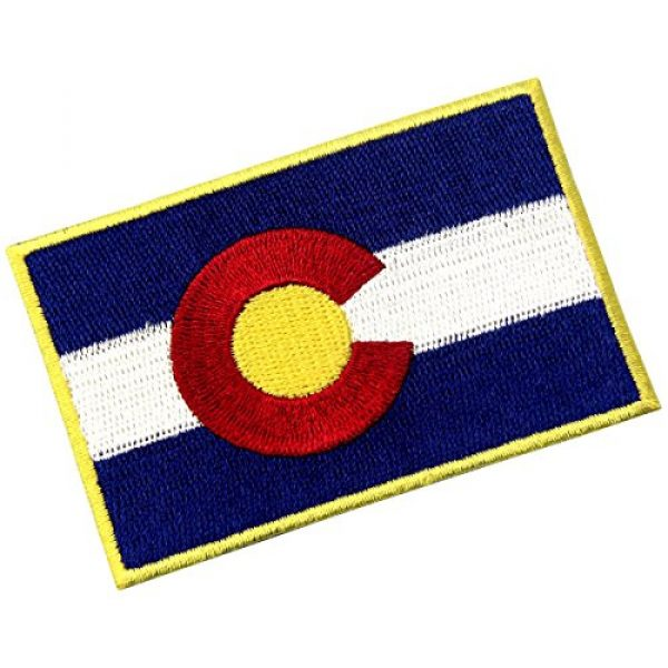 EmbTao Airsoft Morale Patch 4 Colorado State Flag CO Emblem Embroidered Iron On Sew On Patch