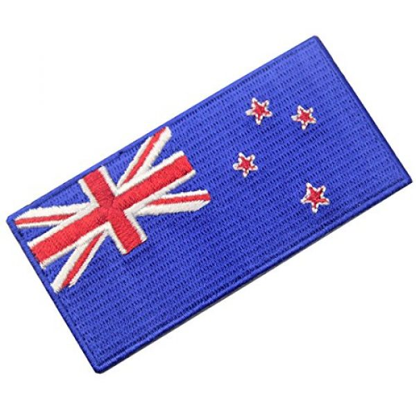 EmbTao Airsoft Morale Patch 3 New Zealand Flag Embroidered Kiwi Emblem Iron On Sew On National Patch