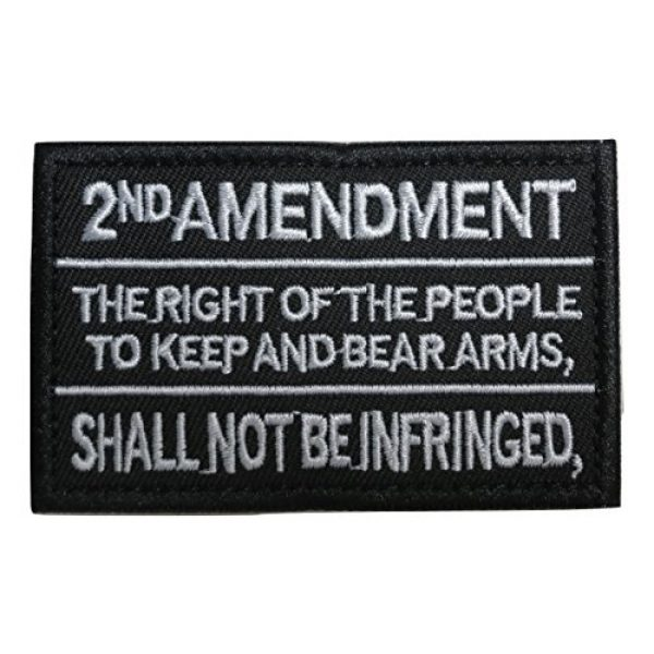 TrendyLuz USA Airsoft Morale Patch 1 TrendyLuz 2nd Amendment Constitution Text Embroidered Hook & Loop Tactical Morale Patch
