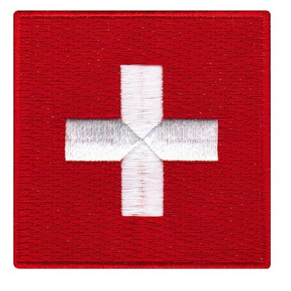 Cypress Collectibles Embroidered Patches Airsoft Morale Patch 1 Switzerland Flag Embroidered Patch Swiss Iron-On CH National Emblem