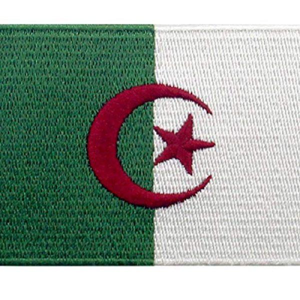EmbTao Airsoft Morale Patch 2 EmbTao Algeria Flag Patch Embroidered National Morale Applique Iron On Sew On Algerian Emblem