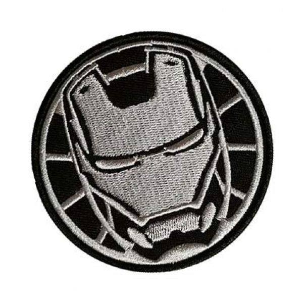 Embroidery Patch Airsoft Morale Patch 2 Marvel Avengers Iron Man Military Hook Loop Tactics Morale Embroidered Patch (color2)