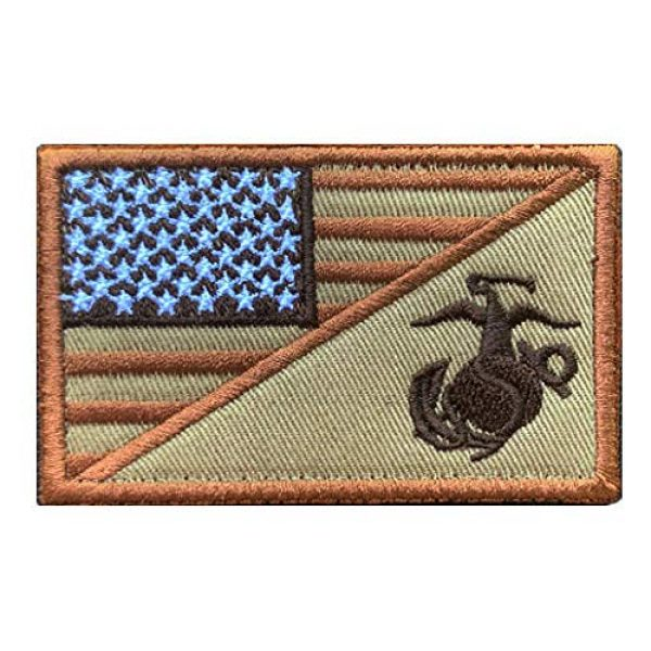 Antrix Airsoft Morale Patch 2 Antrix 2 Pcs American Flag/US Marine Corps USMC U.S Armed Forces Embroidered Military Patches Hook & Loop Emblem Badge for Hats Backpacks Bags Jackets