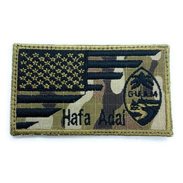 Almost SGT Airsoft Morale Patch 1 USA Guam Flag Hafa Adal - Funny Tactical Military Morale Embroidered Patch Hook Backing(Camouflage)