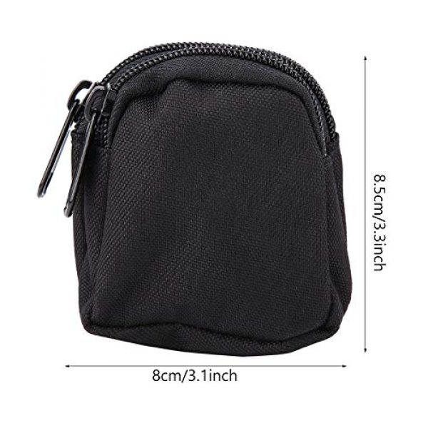Alomejor Tactical Pouch 3 Alomejor Tactical Hanging Bag Sports Mini Waterproof Nylon Waterproof Waist Bag Outdoor Portable Storage Pouch