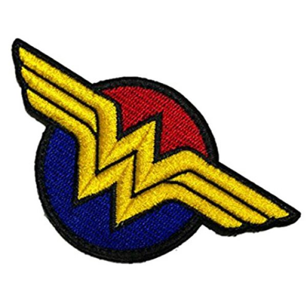 Embroidery Patch Airsoft Morale Patch 3 Wonder Woman Super Hero Tactical Military Embroidery Patch
