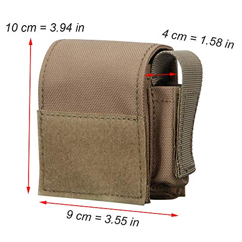 ATAIRSOFT Tactical Pouch 2 ATAIRSOFT 1000D Nylon Storage EDC Battery Cigarette Accessory Molle Small Waist Bag Pouch Pocket for Army Tactical Military Outdoors
