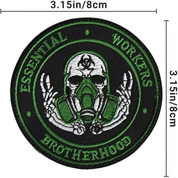 APBVIHL Airsoft Morale Patch 5 4 PCS Operation Enduring Cluster Fuck Outbreak Team Response Embroidered Patch, Brotherhood Essential Workers Embroidery Patches, Tactical Military Morale Applique Badge Fastener Hook and Loop Backing