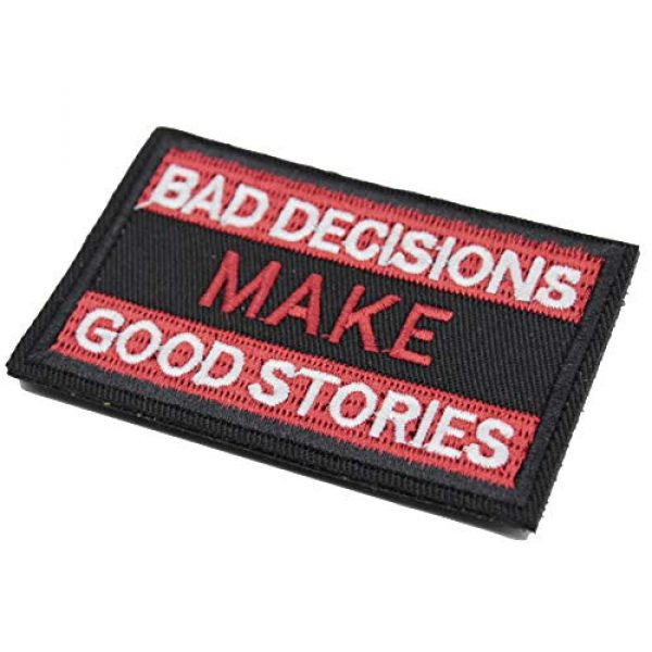 ZHDTW Airsoft Morale Patch 2 ZHDTW Tactical Morale Bad Decisions Make Good Stories Patches with Hook and Loop (DT-025)